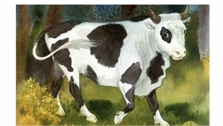 Сказка Бычок — чёрный бочок, белые копытца